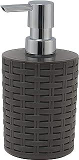 Superio Liquid Soap Dispenser (Brown) Wicker Design Elegant Soap Dispenser, Vanity Bathroom Hand Wash