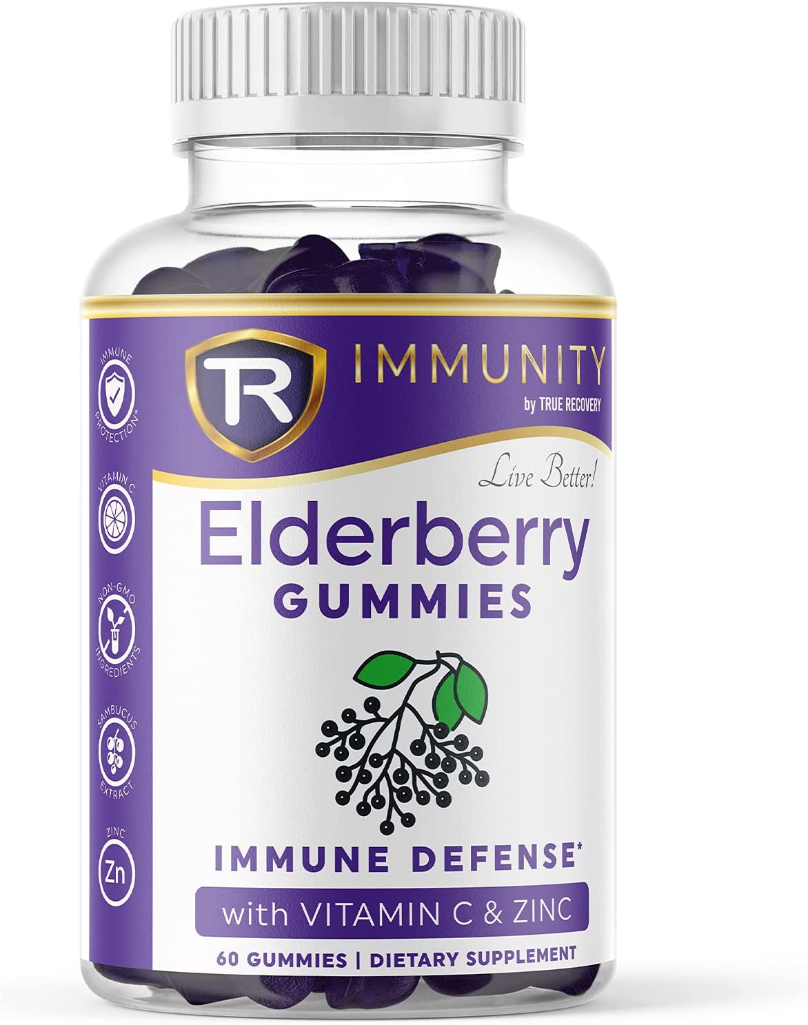 Elderberry Gummies for Adults Support Zinc Immune Special Campaign Be super welcome