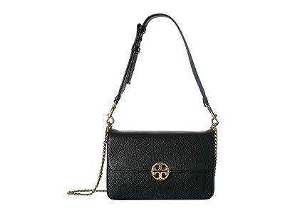 Tory Burch Chelsea Shoulder Bag (Black) Shoulder Handbags