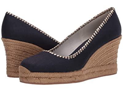 Jack Rogers Palmer Closed Toe Wedge (Midnight) Women
