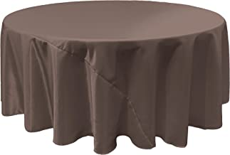 LA Linen Bridal Satin Round Tablecloth, 120-Inch, Charcoal