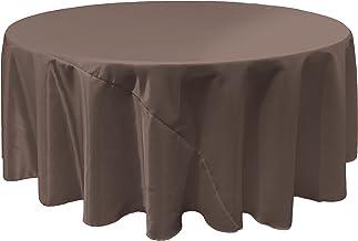 LA Linen Bridal Satin Round Tablecloth, 120-Inch, Charcoal