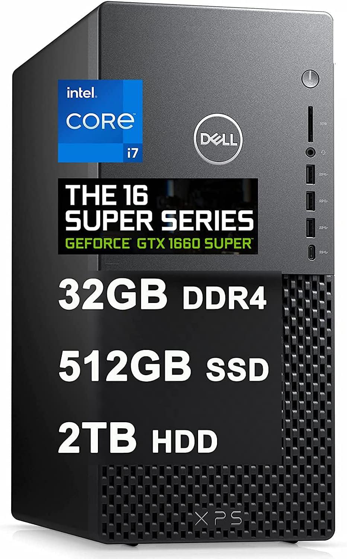 Dell XPS 8940 Premium Gaming Desktop Computer I 11th Gen Intel 8-Core i7-11700 I 32GB DDR4 512GB SSD + 2TB HDD I Geforce GTX 1660 Super 6GB I DisplayPort USB-C WIFI6 Win10