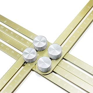 Wondruz Multi Angle Measuring Ruler, Premium Aluminum Alloy Ultimate 836 Template Tool/Layout Tool Measurement for Handymen, Builders, Craftsmen, DIY-ers (Golden)