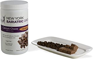 New York Bariatric Group Calcium Citrate Soft Chews with D3 - Cafe Mocha - for Bone and Metabolic Support