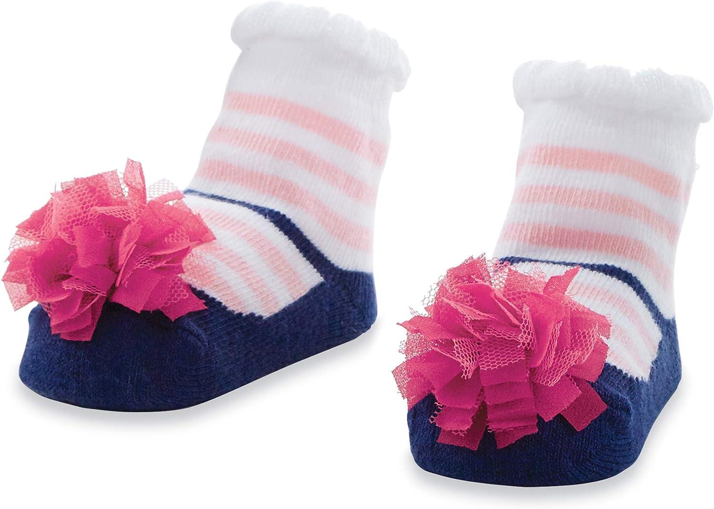 Mud Pie baby girls Navy And Pink Stripe Socks, Navy, Pink, 0-12 Months US