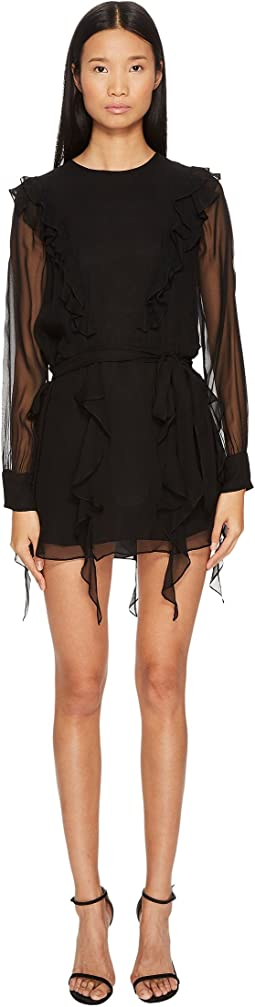 THOMAS WYLDE - Usbeorn Flutter Silk Chiffon Dress