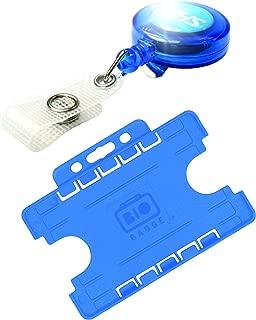 /® Customcard ltd-Badge con Clip confezione da 25 blu