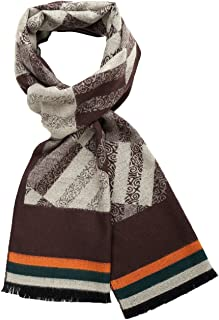 SSLR Men's Fashion Pattern Soft Cashmere Feel Long Winter Scarf