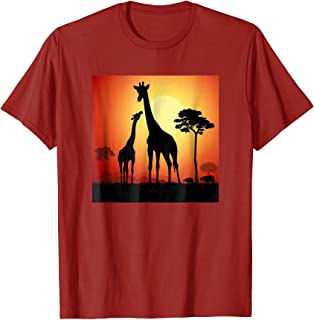 Sunset View of the African Giraffe Safari T-Shirt