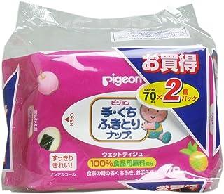 【まとめ買い】ピジョン 手・くちふきとりナップ 詰替用 70枚入 2個【×4セット】