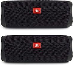 JBL Flip 5 Waterproof Portable Wireless Bluetooth Speaker Bundle - (Pair) Black