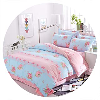 Cotton Pastoral Flower Cartoon Style Fashion Bedding Bed Linen Bed Sheet Duvet Cover Pillowcase 4pcs Bedding Sets/Queen,5,Queen