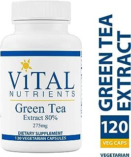 Vital Nutrients - Green Tea Extract 275 mg - Potent Antioxidant & Immune Enhancer - 120 Vegetarian Capsules per Bottle