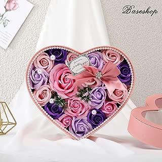 flowers in heart shaped box