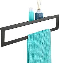 WENKO Badhanddoekstang Uno met plank Montella - Handdoekhouder om te schroeven, roestvrij, aluminium, 61 x 16 x 8 cm, antr...