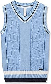 Benito & Benita Sweater Vest School Vest V-Neck Uniforms Cotton Cable-Knit Pullover for Boys/Girls 2-12Y