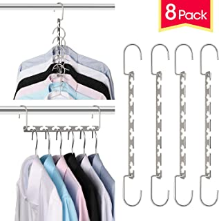 Giftol Space Saving Hangers Metal Hanger Magic Cascading Hanger Closet Clothes Organizer(8 Pack)