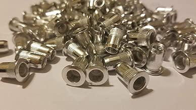 100 PCs 10-32 Aluminum Flange Nutserts Rivet Nut Rivnut