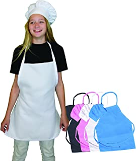 Kids Chef Hat and Apron Set - Great Aprons Kitchen Cooking Baking Wear. Free eBook