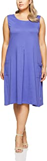 My Size Women's Plus Size Broome Pleat Front Dress, Lilac