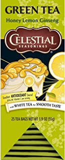 Celestial Seasonings Green Tea, Honey Lemon Ginseng, 25 Count