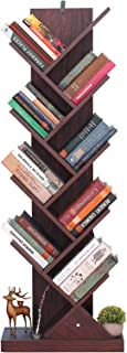 Himimi Librería de 9 niveles vintage estantería libros con forma de árbol estantería de madera para librería cafetería...