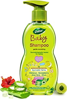 Dabur Baby Gentle Nourishing Shampoo: With No Harmful Chemicals & Tear Free Formula |Contains Aloe Vera & Gooseberry | pH ...