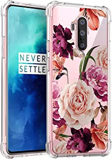 Osophter for Oneplus 7T Pro Case Flower Floral for Girls Women Shock-Absorption Flexible TPU Rubber Soft Silicone Cover fo...