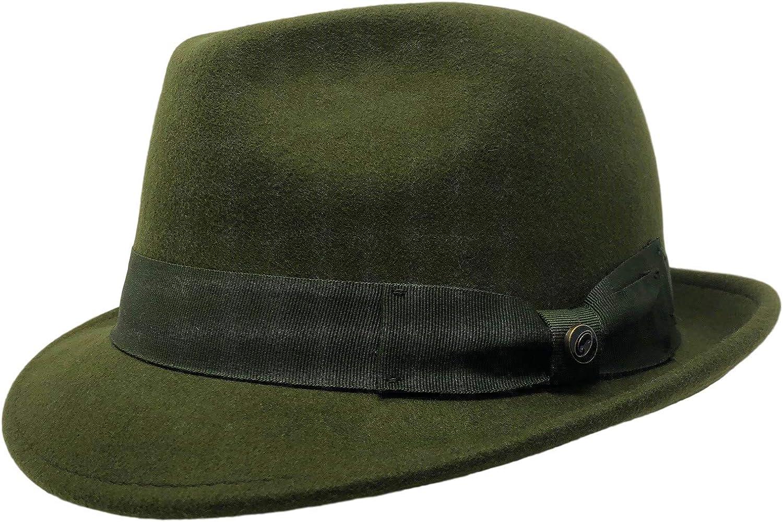 Bellmora One Fresh Hat Wool Felt Crushable Stingy Brim Snap Fedora