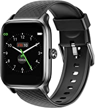 Letsfit Smart Watch for Android Phones, Fitness Tracker with Heart Rate & Sleep Monitor & Blood Oxygen Saturation, 5ATM Waterproof Cardio Smartwatch for Women Men Compatible with iPhone Samsung-Black