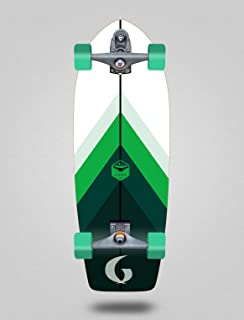 Glutier Surfskate with T12 Surf Skate Trucks Green...
