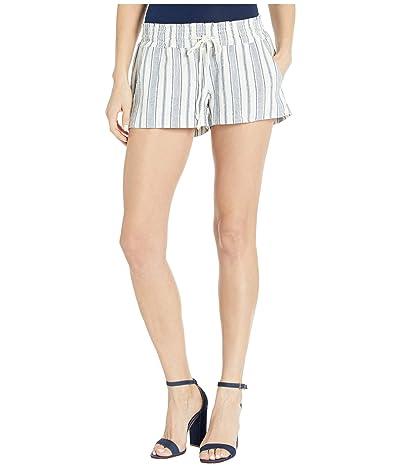 Roxy Oceanside Yarn-Dyed Shorts (Snow White True Navy Beachside) Women