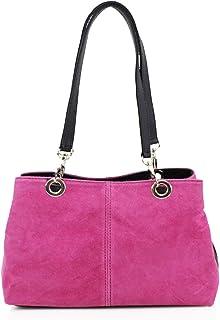 Craze London Womens New Genuine Suede Leather Handbag Shoulder Bag Tote