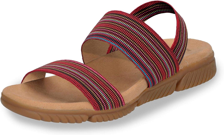 23.710-84 Damen Sportive Sandale Textil Lederfutter Best-Fitting-System  | Elegant