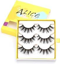 ALICE False Eyelashes 3D Faux Mink Wispy Lashes 3 Pairs