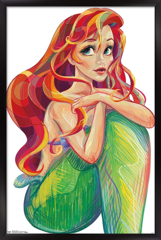 Trends International Disney The Little Stylize Ariel - Direct stock discount Mermaid discount