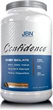 Confidence by JBN 100% Whey Isolate Protein Powder Mix - 5 Grams of Fibersol - Great Tasting - Easily Digestible - High Purity & Potency - Helps Weight Loss (Chocolate Peanut Butter, 30 Servings)