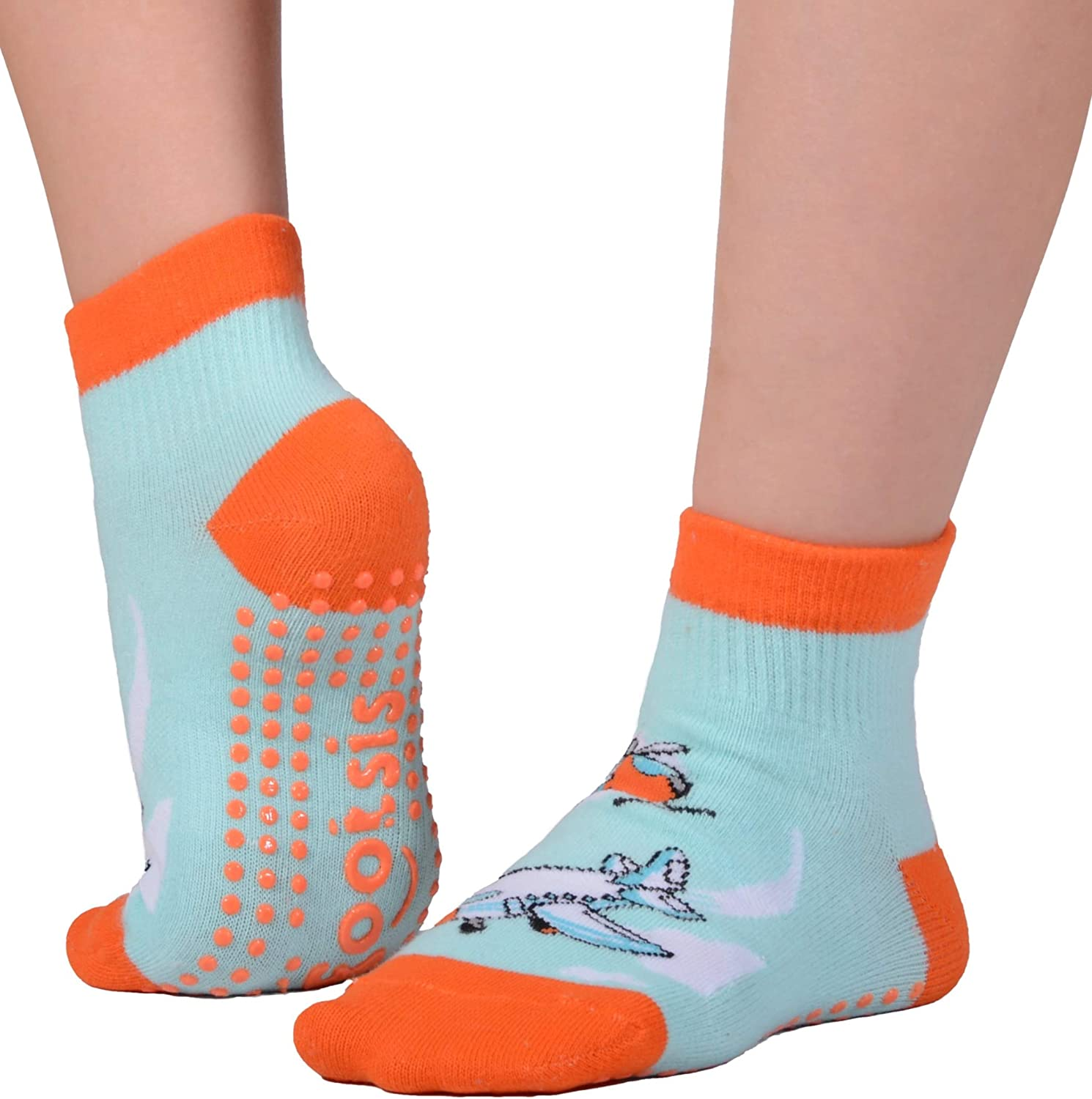 FOOTSIS Non Slip Grip Socks for Yoga, Pilates, Barre, Home, Hospital ,Mommy and Me classes