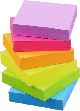 Early Buy Sticky Notes 2 x 2 Self-Stick Notes 6 Bright Color 12 Pads, 100 Sheets/Pad