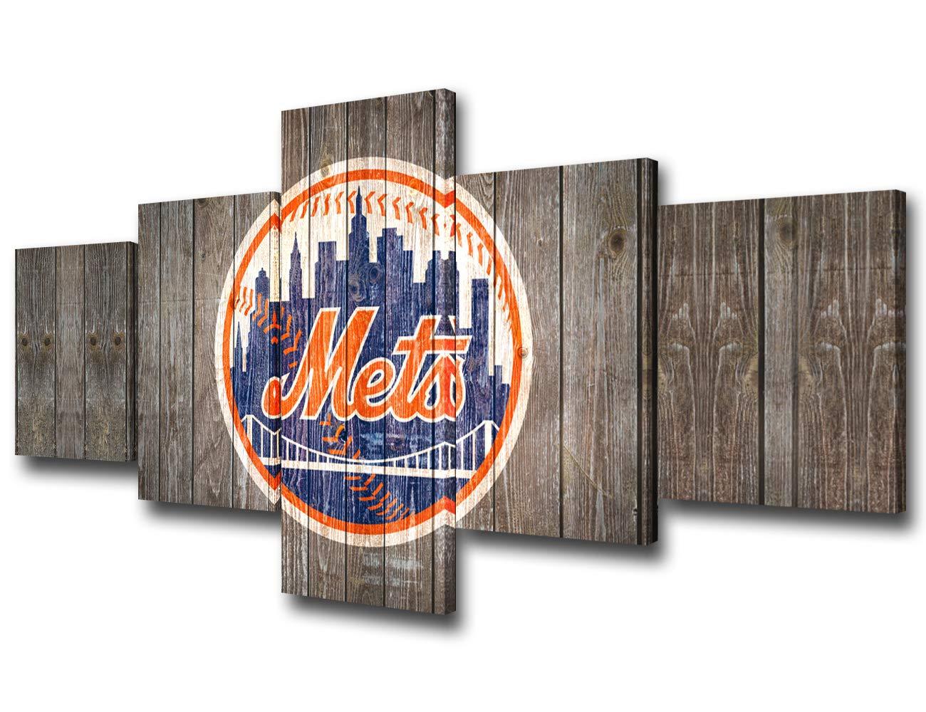 Baseball Canvas Wall Art Sport Team Set Home Decor Prints