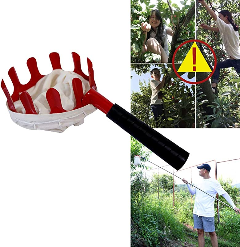 Panzisun Fruit Picker With Storage Bag Garden Gloves Basket Harvest Picking Tool Fruits Catcher For Apple Citrus Pear Peach