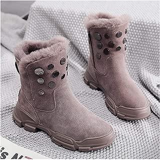 FX Girls' Snow Boots, Children's Boots, Children's Shoes, Autumn And Winter Models, Medium And Large Children Plus Velvet Cotton Boots