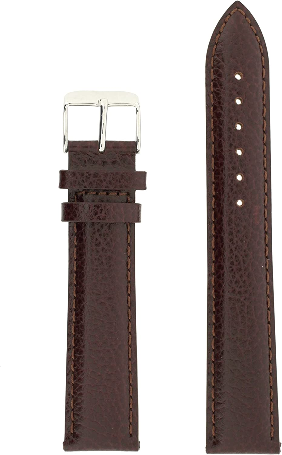 Watch Band Mens Long Genuine Dark 22 Max 58% OFF Indianapolis Mall Leather Brown millimeters