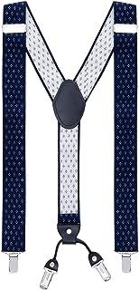 MASADA Bretelle da uomo Clips resistenti 3,5 cm di larghezza fino a 195 cm di altezza