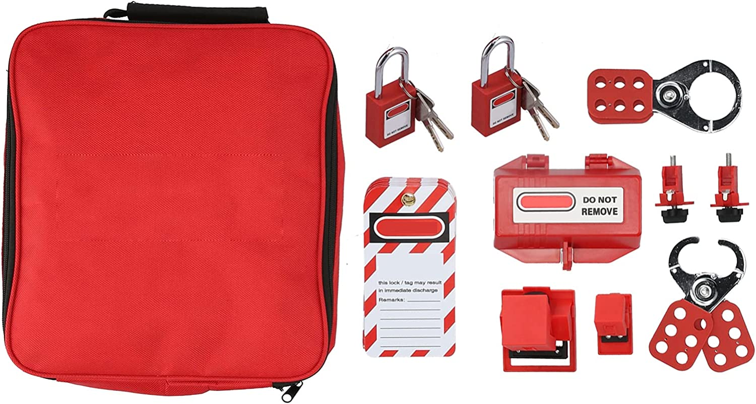Electrical Lockout Max 40% OFF Tagout Kit Safety Set Hasp L Limited price sale Padlocks