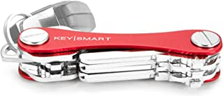 KeySmart Classic - Compact Key Holder and Keychain Organizer (up to 14 Keys, Red)