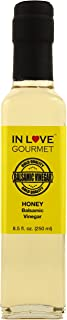 In Love Gourmet Honey Balsamic Vinegar 250ML/8.5oz Perfect on Salads and Vegetables, Fish, Poultry, Roasted Meat, and Sweet & Sour Dishes.