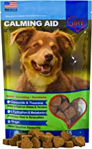 Dog Calming Aid - Treats - Melatonin, L Tryptophan, Chamomile Flower, Passion Flower and Thiamine Mononitrate - 25 Soft Chews