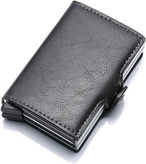 OocciShopp Card Holder,RFID Pop Up Credit Card Holder Wallet Multi-slot Card Case PU Credit Card Case Security Blocking Wa...